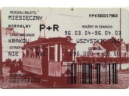 Bilet MPK Kraków 15