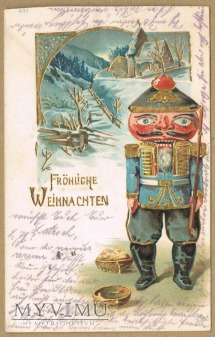 1904 rok świąteczna z dziadkiem do orzechów