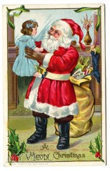 Odwiedziny Świętego Mikołaja c. 1910 USA