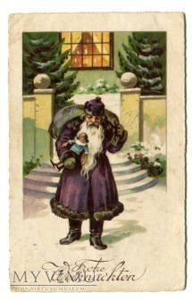 Duże zdjęcie Frohe Weihnachten St. Nicholas - pocztówka