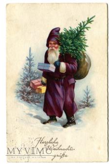 Duże zdjęcie Frohe Weihnachten St. Nicholas - Święty Mikołaj