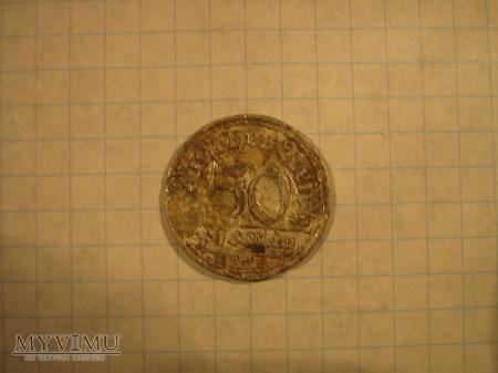 Moneta 50 pfenigów 1930