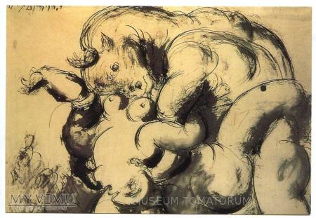 Picasso - Monster - Akt z bykiem