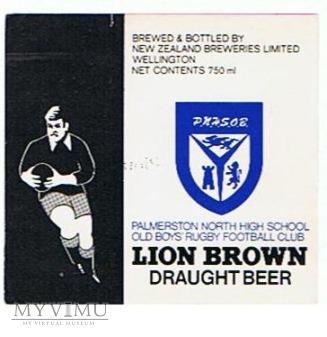lion breweries - brown draught beer