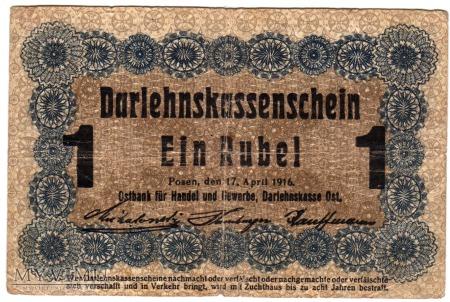 17.04.1916 - 1 Rubel - Poznań