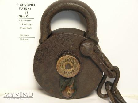 "F. Sengpiel Patent Padlock #3 - Size ""C"""