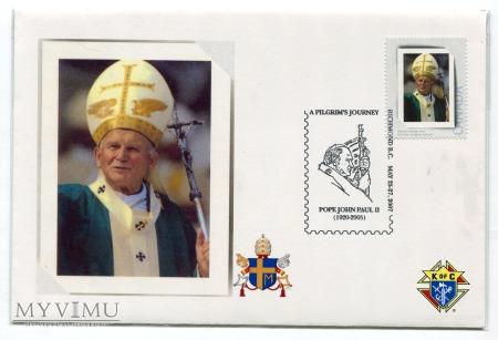 Duże zdjęcie Papież Jan Paweł II koperta pamiątkowa i znaczki