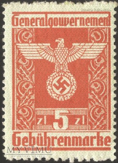 Gebührenmarke 5 złotych