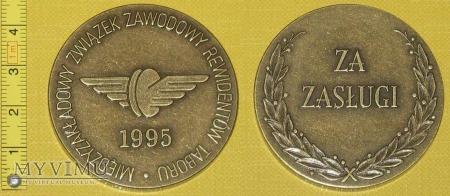 Duże zdjęcie Medal kolejowy - związkowy MZZRT