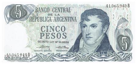 Argentyna - 5 pesos (1975)