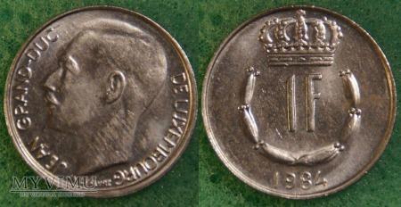 Luksemburg, 1 Franc 1984