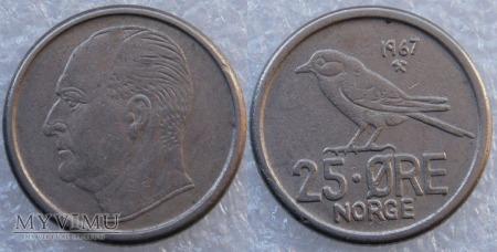 Norwegia, 25 Øre 1967