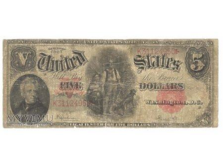 5 USD 1907