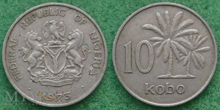 Nigeria, 10 kobo 1973