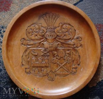 Duże zdjęcie Talerz drewniany z herbem