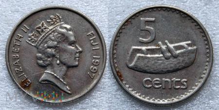Fidżi, 5 centów 1997