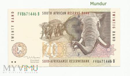 Banknot południowoafrykański: 20 rand