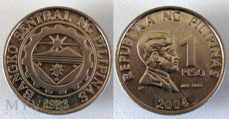 Filipiny, 1 PISO 2004