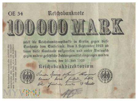 Niemcy - 100 000 marek (1923)