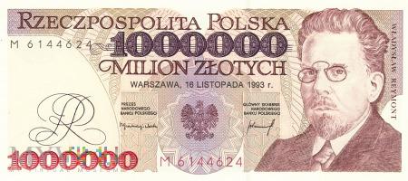 Polska - 1 000 000 złotych (1993)