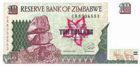 Zimbabwe - 10 dolarów (1997)