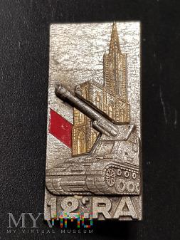 Pamiątkowa Odznaka 12 Pułku Artylerii - Francja