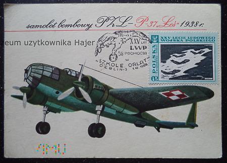 """PZL - P-37 """" Łoś """" 1938 r"""