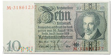 Niemcy - 10 reichsmark 1929r