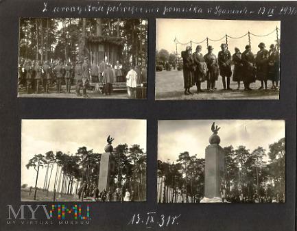 Pomnik bitwy pod Iganiami - odsłonięcie 13 IX 1931