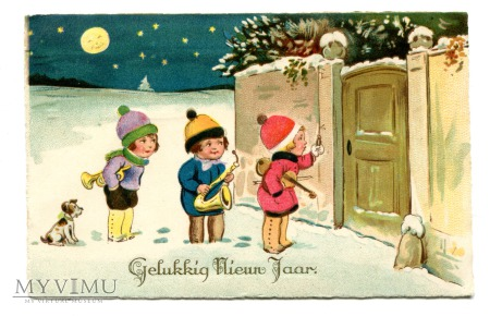 Duże zdjęcie 1932 Szczęśliwego Nowego Roku Holandia