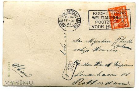 1927 Święty Mikołaj Zalig Kerstfeest Holandia