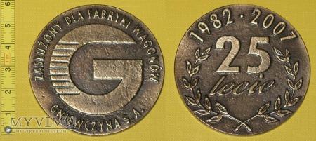 Medal kolejowy - firmowy ZNTK Gniewczyna
