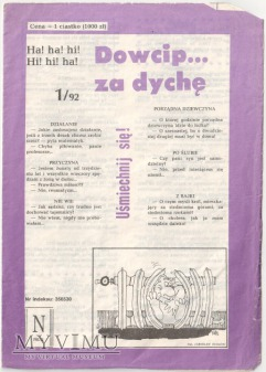 Dowcip...za dychę 1/92