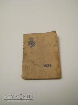 Duże zdjęcie Kalendarzyk kieszonkowy 1939