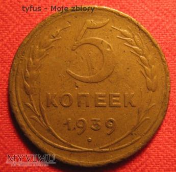 5 KOPIEJEK - ZSRR (1939)