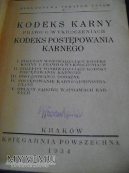 Kodeks Karny z 1934 roku