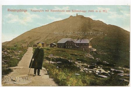 Karkonosze Śnieżka Schneekoppe Riesenbaude 1908