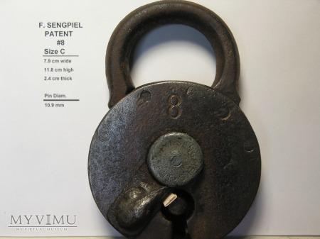 "F. Sengpiel Patent Padlock, #8 - Size ""C"""