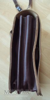 Oficerska torba polowa skórzana brązowa