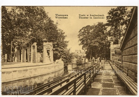 Warszawa - Łazienki - Amfiteatr - 1910 ok.