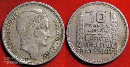 Francja, 10 FRANCS 1948