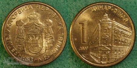 Serbia, 1 dinar 2009