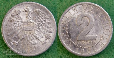 Austria, 2 groschen 1965