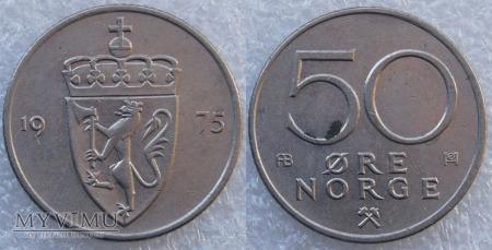 Norwegia, 50 Øre 1975