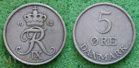Dania, 5 Øre 1952