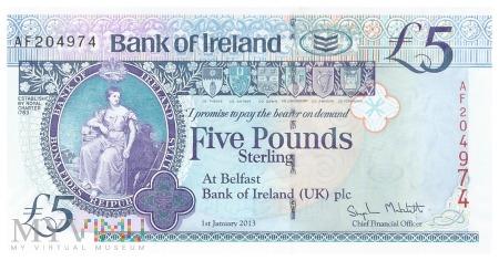 Irlandia Północna - 5 funtów (2013)