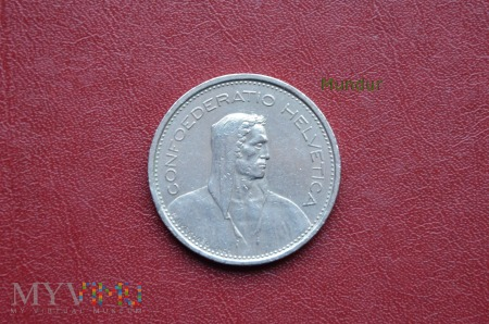 Moneta szwajcarska: 5 Fr.