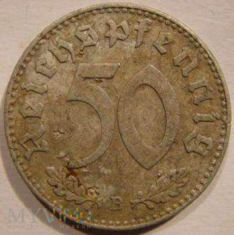Duże zdjęcie 50 Reichspfennig 1943 B - Wiedeń
