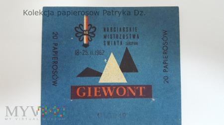 Papierosy GIEWONT 20 szt. cena 4,60 zł - etykieta