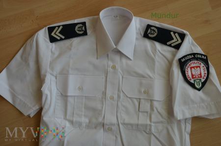 Koszula biała damska SC z krótkimi rękawami